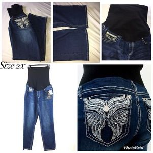 c0dab82f974ca Women Bling Maternity Jeans on Poshmark
